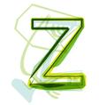 Green letter z vector