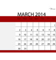 Simple 2014 calendar march vector