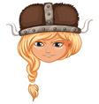 Viking girl warrior vector