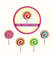 Bright lollipops on sticks vector