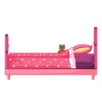 Pink bed vector