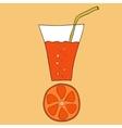 Doodle grapefruit juice vector