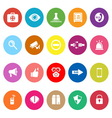 Security flat icons on white background vector