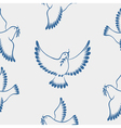 Seamless pattern dove of peace vector