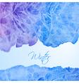 Winter watercolor background vector