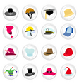 Hat with button vector
