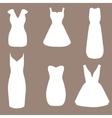 Set of woman little black dresses vector