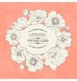 Poppies vintage card vector