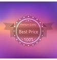 Best price premium quality badge vector
