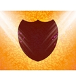 Shield protection flat modern web button and space vector
