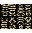 Set of golden ribbons vector