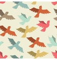 Seamless pattern with stylized color flying birds vector