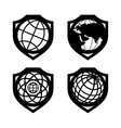 Globe security set vector