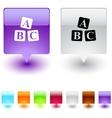Abc cubes square button vector