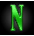 Green plastic figure n vector