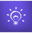 Abstract draw light bulb isoated vector