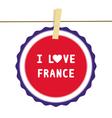 I love france4 vector