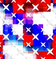 White small and big stars on flag colored layer vector