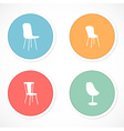 Retro stickers with icons vector