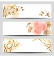 Oriental style watercolor banners vector