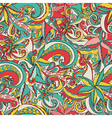 Seamless hand-drawn pattern floral background vector