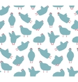 Funny hen seamless pattern background vector
