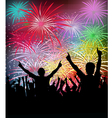 Newyears party fireworks- vector