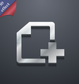 Add file document icon symbol 3d style trendy vector