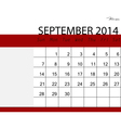 Simple 2014 calendar september vector