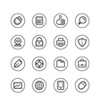 Web technology and media icons vector