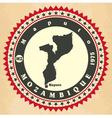 Vintage label-sticker cards of mozambique vector