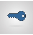 Key icon with shadow vector