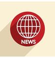 Globe symbol news vector
