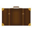 Brown travel bag vector