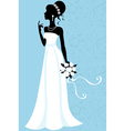 Beautiful bride vector