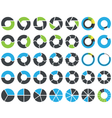 Pie charts and circular graph infographic kit vector