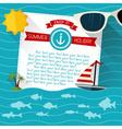 Sea summer background vector