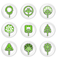 Ecology tree icons vector