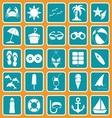 Spring break icon set basic style vector