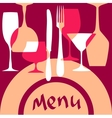 Menu cover background vector