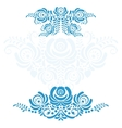 The set of elements russian ornaments gzhel vector