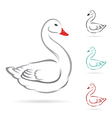 Image of swan vector