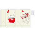 Bag with glass of juice vector