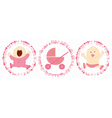 Baby labels vector