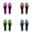 Set of women shoes vector