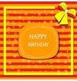 Happy birthday card ribbon bow vector