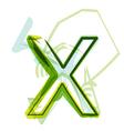 Green letter x vector