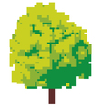 Abstract tree - pixel tree vector