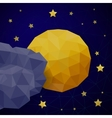 Triangle background with moon vector