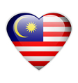 Malaysia flag button vector
